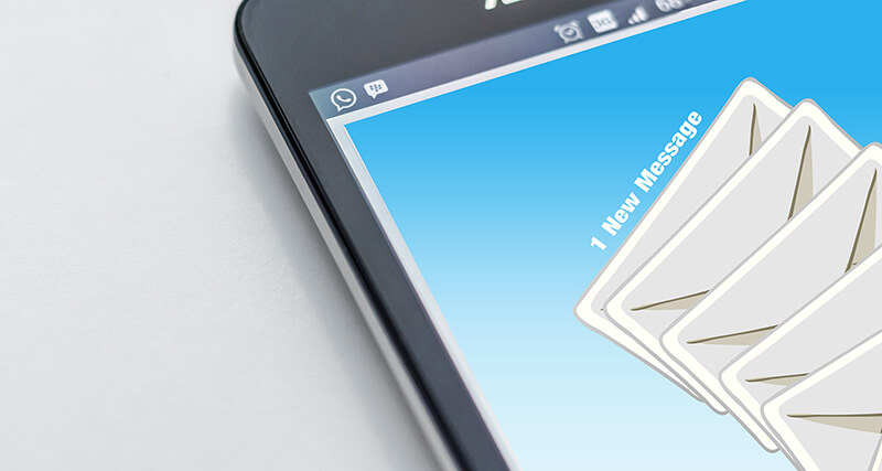 phone receiving emails